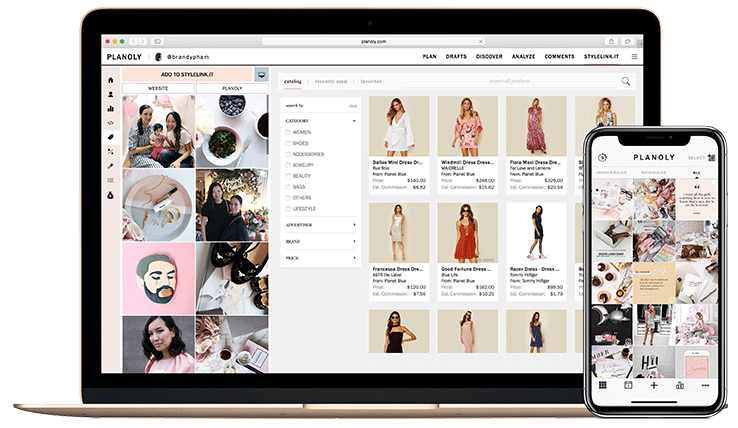 Planoly App for Instagram Screenshot Online Boutique Center