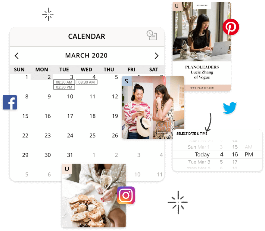 Planoly, Easily Plan & Schedule Your Content for Instagram, Pinterest, Facebook & Twitter